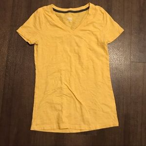 Yellow V-neck Tee